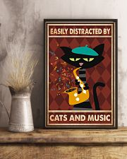 Cat saxophone Easily Distracted PDN 11x17 Poster lifestyle-poster-3