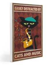 Cat saxophone Easily Distracted PDN Gallery Wrapped Canvas Prints tile