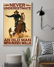 Rodeo never underestimate an old man 11x17 Poster lifestyle-poster-1