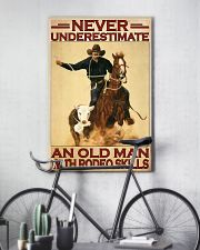 Rodeo never underestimate an old man 11x17 Poster lifestyle-poster-7