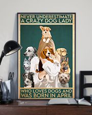 Dog Crazy Dog Lady Born In April 11x17 Poster lifestyle-poster-2