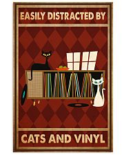 Music Cat Vinyl Easily Distracted 3 PDN-ntv 11x17 Poster front