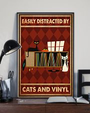Music Cat Vinyl Easily Distracted 3 PDN-ntv 11x17 Poster lifestyle-poster-2