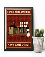 Music Cat Vinyl Easily Distracted 3 PDN-ntv 11x17 Poster lifestyle-poster-8