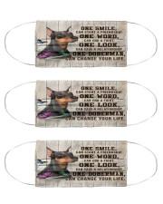Doberman One Smile Msk Cloth Face Mask - 3 Pack front