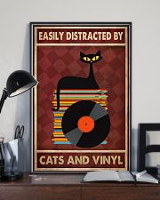 Cat Vinyl Easily Distracted PDN-pml 11x17 Poster lifestyle-poster-2