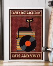 Cat Vinyl Easily Distracted PDN-pml 11x17 Poster lifestyle-poster-4