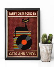 Cat Vinyl Easily Distracted PDN-pml 11x17 Poster lifestyle-poster-8