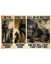Police K9 Darkest Hour PDN-dqh 17x11 Poster thumbnail