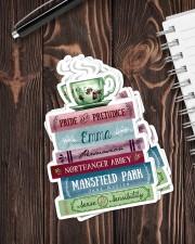 Book coffee sticker Sticker - 6 pack (Vertical) aos-sticker-6-pack-vertical-lifestyle-front-05