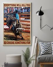 Rodeo Bull Riding Every Thing 11x17 Poster lifestyle-poster-1
