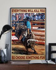 Rodeo Bull Riding Every Thing 11x17 Poster lifestyle-poster-2