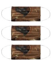 Cat Black Cat Leather Msk Cloth Face Mask - 3 Pack front