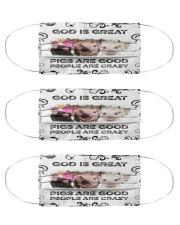 Pig is Good Msk Cloth Face Mask - 3 Pack front