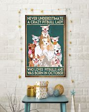 Crazy Pitbull Lady October 11x17 Poster lifestyle-holiday-poster-3