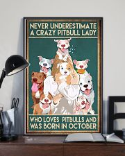 Crazy Pitbull Lady October 11x17 Poster lifestyle-poster-2
