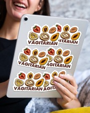 Vegan Vegiatarian Sticker Sticker - 6 pack (Horizontal) aos-sticker-6-pack-horizontal-lifestyle-front-12