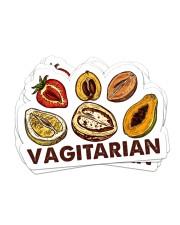 Vegan Vegiatarian Sticker Sticker - 6 pack (Horizontal) front