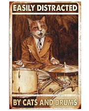 Cat Drums Easily Distracted 11x17 Poster front