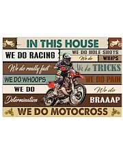 Motocross In This House PDN-pml 17x11 Poster front