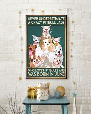 Crazy Pitbull Lady June 11x17 Poster lifestyle-holiday-poster-3