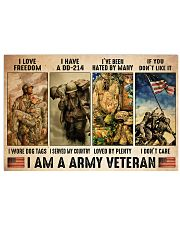 Vet Army I Am PDN-dqh 17x11 Poster front
