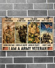 Vet Army I Am PDN-dqh 17x11 Poster poster-landscape-17x11-lifestyle-18