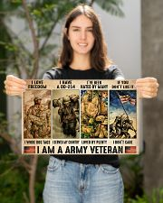 Vet Army I Am PDN-dqh 17x11 Poster poster-landscape-17x11-lifestyle-19