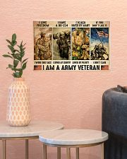 Vet Army I Am PDN-dqh 17x11 Poster poster-landscape-17x11-lifestyle-21