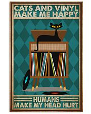 Music Cat Vinyl Make Me Happy2 PDN-dqh 11x17 Poster front