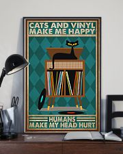 Music Cat Vinyl Make Me Happy2 PDN-dqh 11x17 Poster lifestyle-poster-2