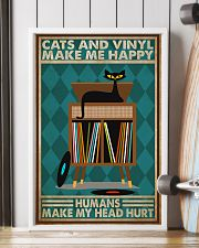 Music Cat Vinyl Make Me Happy2 PDN-dqh 11x17 Poster lifestyle-poster-4