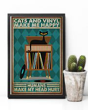 Music Cat Vinyl Make Me Happy2 PDN-dqh 11x17 Poster lifestyle-poster-8
