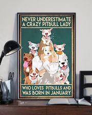 Crazy Pitbull Lady January 11x17 Poster lifestyle-poster-2