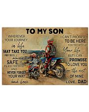 Motocross To My Son PDN ntv 17x11 Poster front
