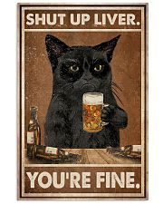 Cat beer shut up liver 24x36 Poster front