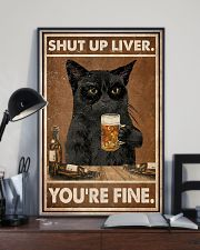 Cat beer shut up liver 24x36 Poster lifestyle-poster-2