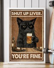 Cat beer shut up liver 24x36 Poster lifestyle-poster-4