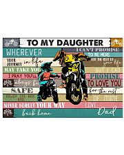 Dirtbike To My daughter 36x24 Poster front
