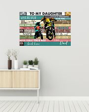 Dirtbike To My daughter 36x24 Poster poster-landscape-36x24-lifestyle-01