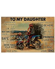 Motocross To My Daughter PDN ngt 17x11 Poster front