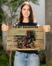 Motocross To My Daughter PDN ngt 17x11 Poster poster-landscape-17x11-lifestyle-19