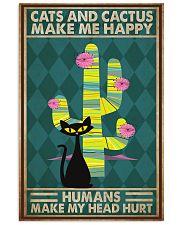 Cat Cactus Make Me Happy PDN-pml 11x17 Poster front