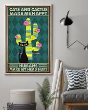 Cat Cactus Make Me Happy PDN-pml 11x17 Poster lifestyle-poster-1
