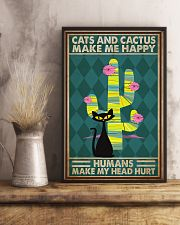 Cat Cactus Make Me Happy PDN-pml 11x17 Poster lifestyle-poster-3