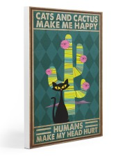 Cat Cactus Make Me Happy PDN-pml 20x30 Gallery Wrapped Canvas Prints thumbnail