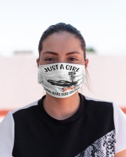 Drag racing just a girl Cloth Face Mask - 3 Pack aos-face-mask-lifestyle-03