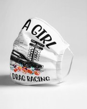 Drag racing just a girl Cloth Face Mask - 3 Pack aos-face-mask-lifestyle-21