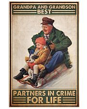 Sledding Grandpa And Grandson PDN-DQH 11x17 Poster front