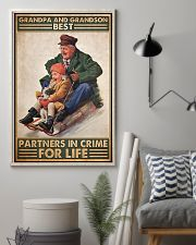 Sledding Grandpa And Grandson PDN-DQH 11x17 Poster lifestyle-poster-1